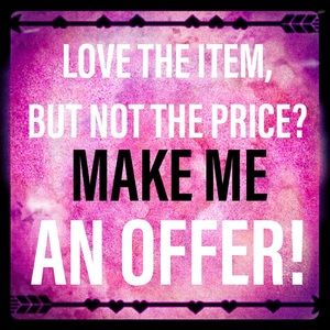 If you like an item... make me an offer! ❤️